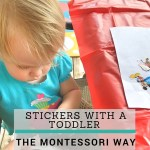 Stickers with Toddlers: A Fine Motor Montessori Activity