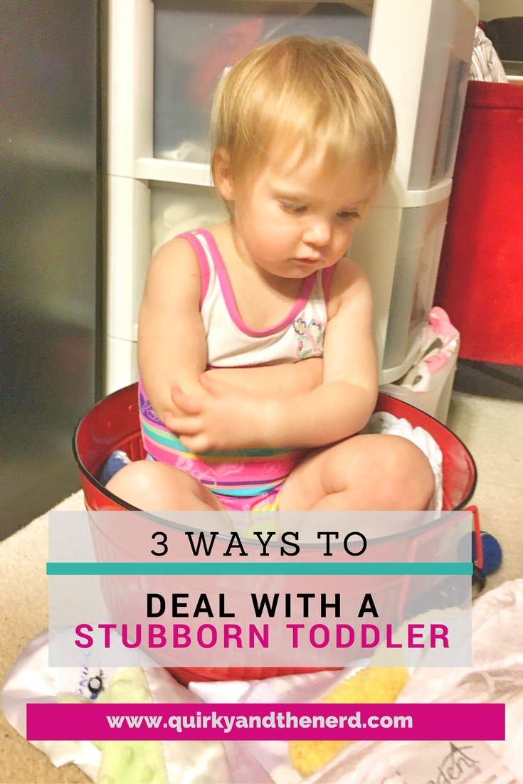 Dealing with a stubborn toddler is difficult. But getting into a battle of wills is not the way to go. Read the 3 ways I deal with a stubborn toddler.