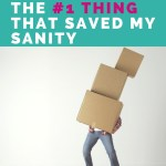 Moving While Pregnant: The #1 Thing That Saved My Sanity