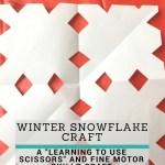Winter Snowflake Craft to Improve Fine Motor Skills