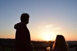 Matt and Wendy enjoying sunset down at La Cabushe