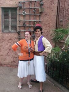 Quirky Chrissy is best friends with Aladdin.