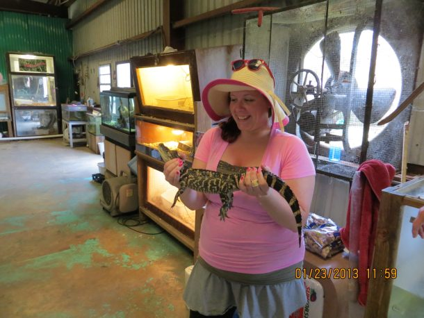 Wild animals at skunk ape research facility