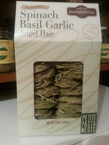 Basil Garlic Angel hair pasta nests