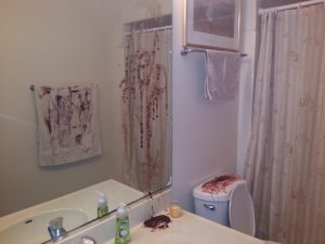 Bloody bathroom