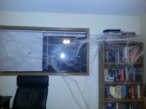 Spiderwebbed office