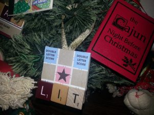 Literature Scrabble Ornament