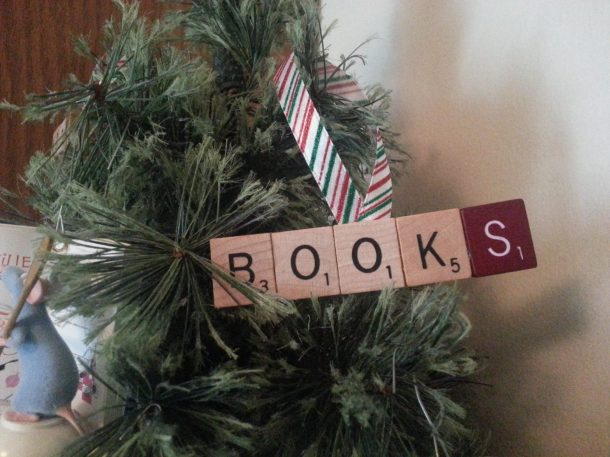 Book Scrabble Ornament