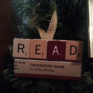 Read Scrabble Ornament