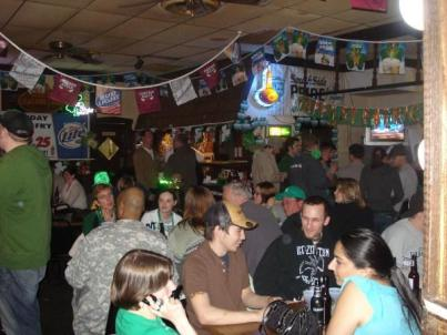 Bars on St. Patrick's Day get pretty crowded...