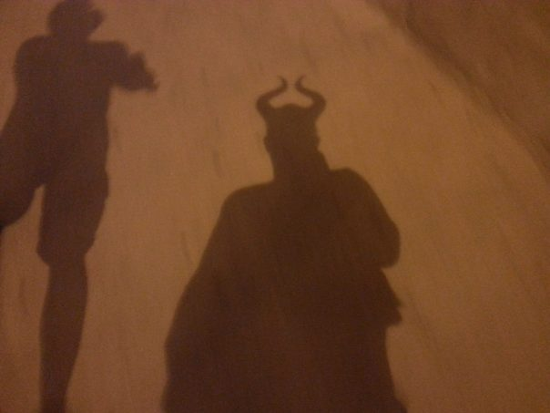 Of course I wore the horns on the 20 minute walk back to the train...and the 40 minute train ride.