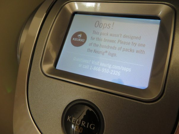 Can't use old K-cups in new Keurig 2.0