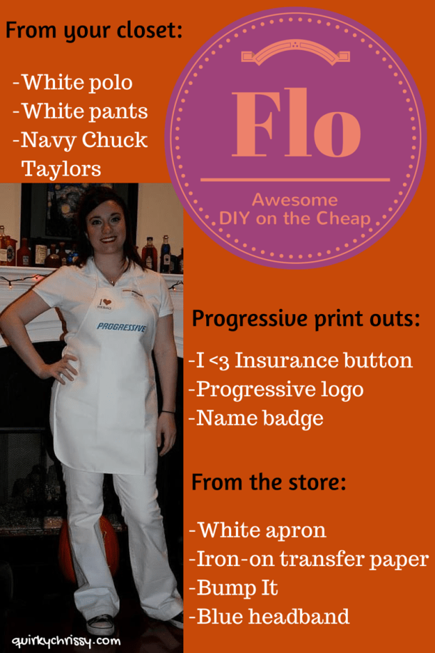 Flo Progressive Halloween Costume DIY
