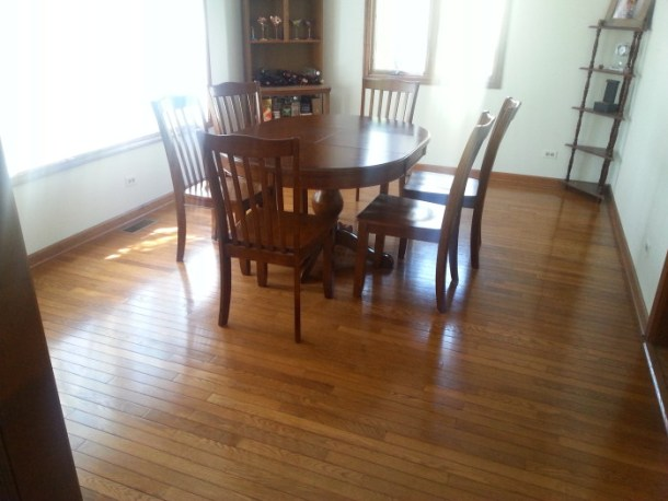 Dining Room floor clean with bona mop