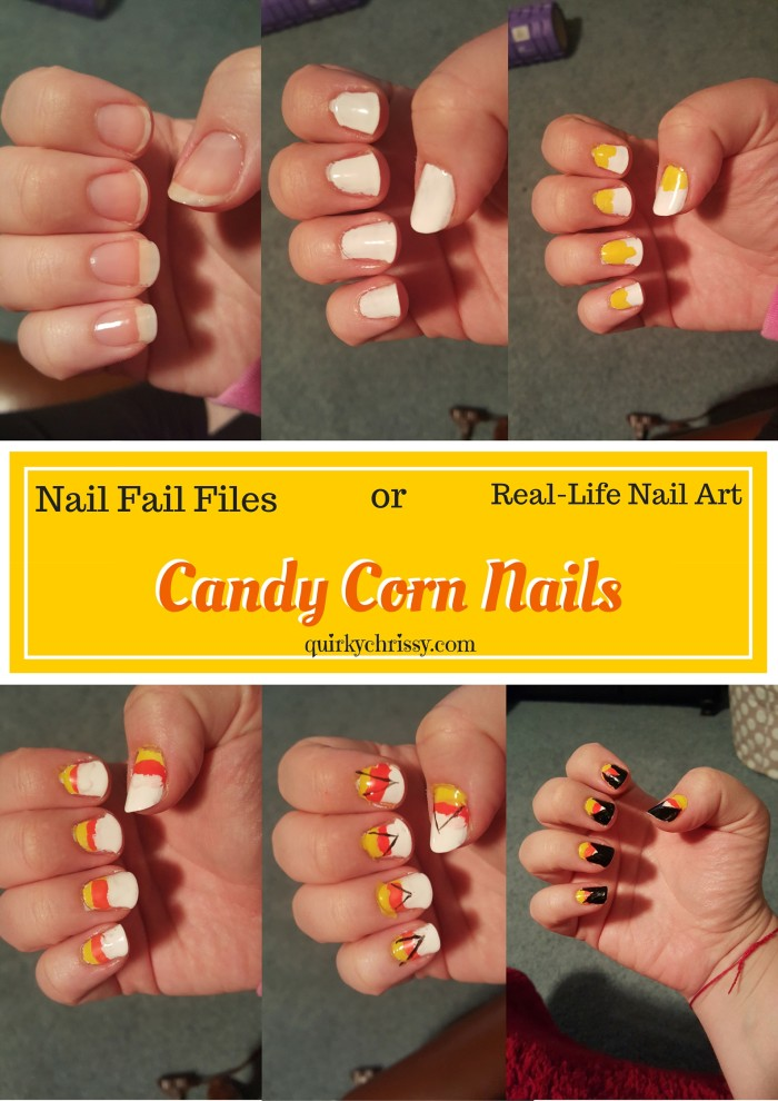 Nail Fail Files Halloween Candy Corn Nail Tutorial
