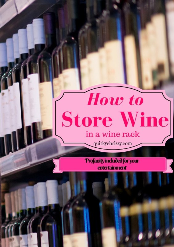 Store sloped shoulder wine bottled backwards to keep them from falling off your wine rack. For magnums of wine, you may need to get creative.