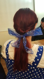 topsytail for Belle's hair Beauty and the Beast costume