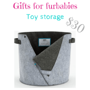 gifts for furbabies: toy storage $30