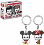 Funko Pop mickey and minnie key chain