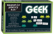 Magnetic poetry kit for geeks