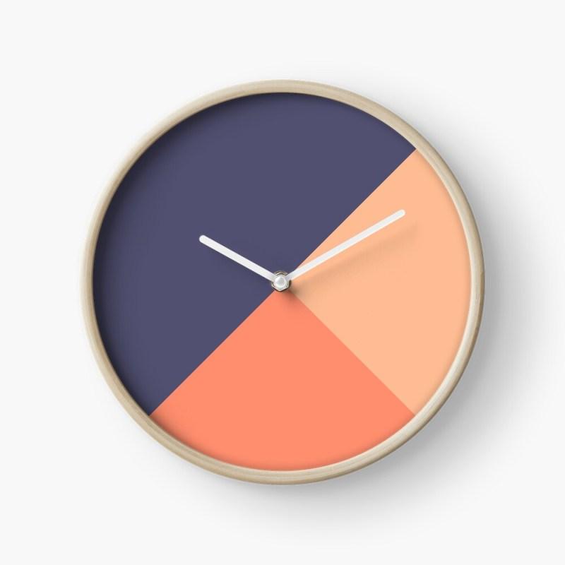 Blue salmon clock