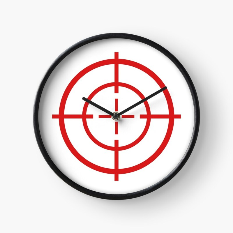 target crosshair wall clock