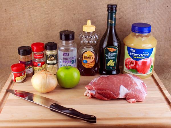 Sweet & Spicy Slow Cooker Apple Pork Roast | Crunchy Frugalista Blog