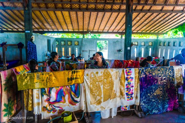Batik centre Gianyar regency Bali