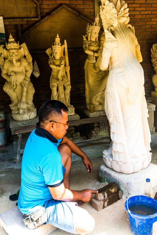 Batu bulan Bali stone work
