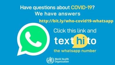 Photo of La OMS está contestando por WhatsApp a preguntas y dudas sobre el coronavirus