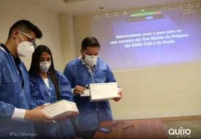 Personal de la salud municipal listo para la aplicación del test rápido de antígenos
