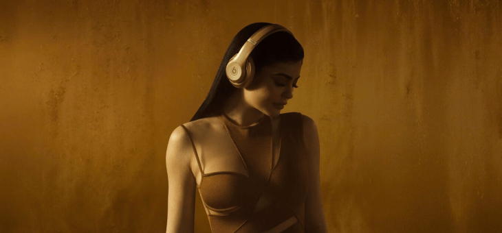 Shot at Quixote: Kylie Jenner for Beats By Dre + Balmain