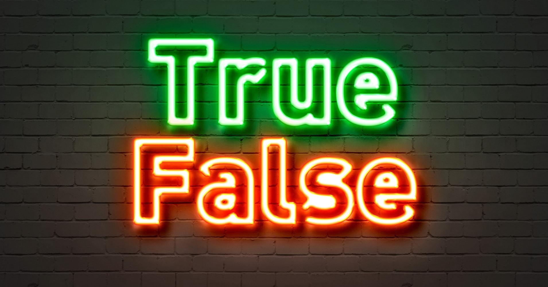 True Or False Quiz Question 1