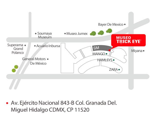 Mapa Museo Trick eye