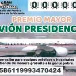 Diseño para el boleto de rifa del avión presidencial