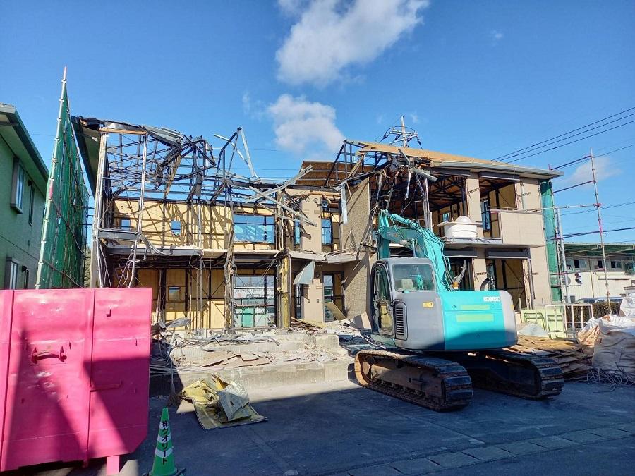 西三島アパート解体工事
