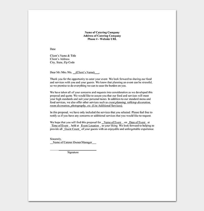 quotation letter sample format example template