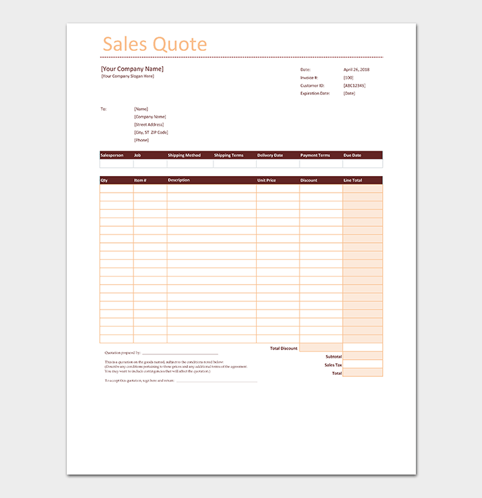 Quotation template in excel 15 samples formats sales quotation template fbccfo Gallery