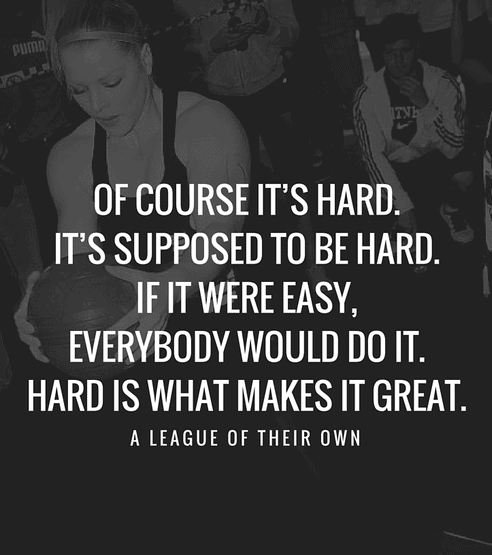 Workout Quotes. It's Hard