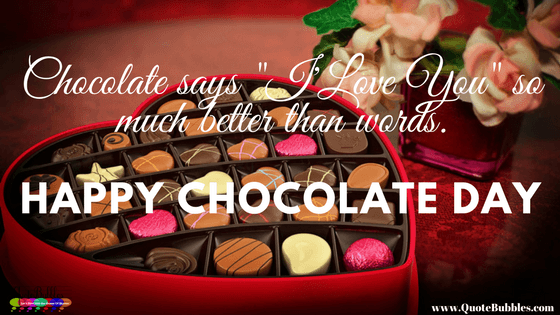 Happy Chocolate Day Quote, Status, SMS & Images In English of 2018