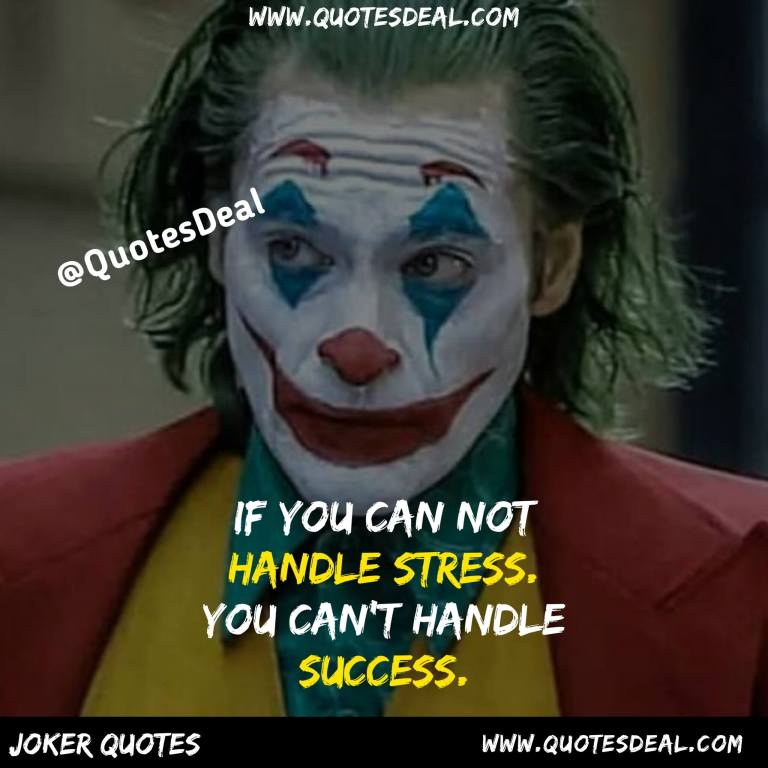 If you can not handle stress