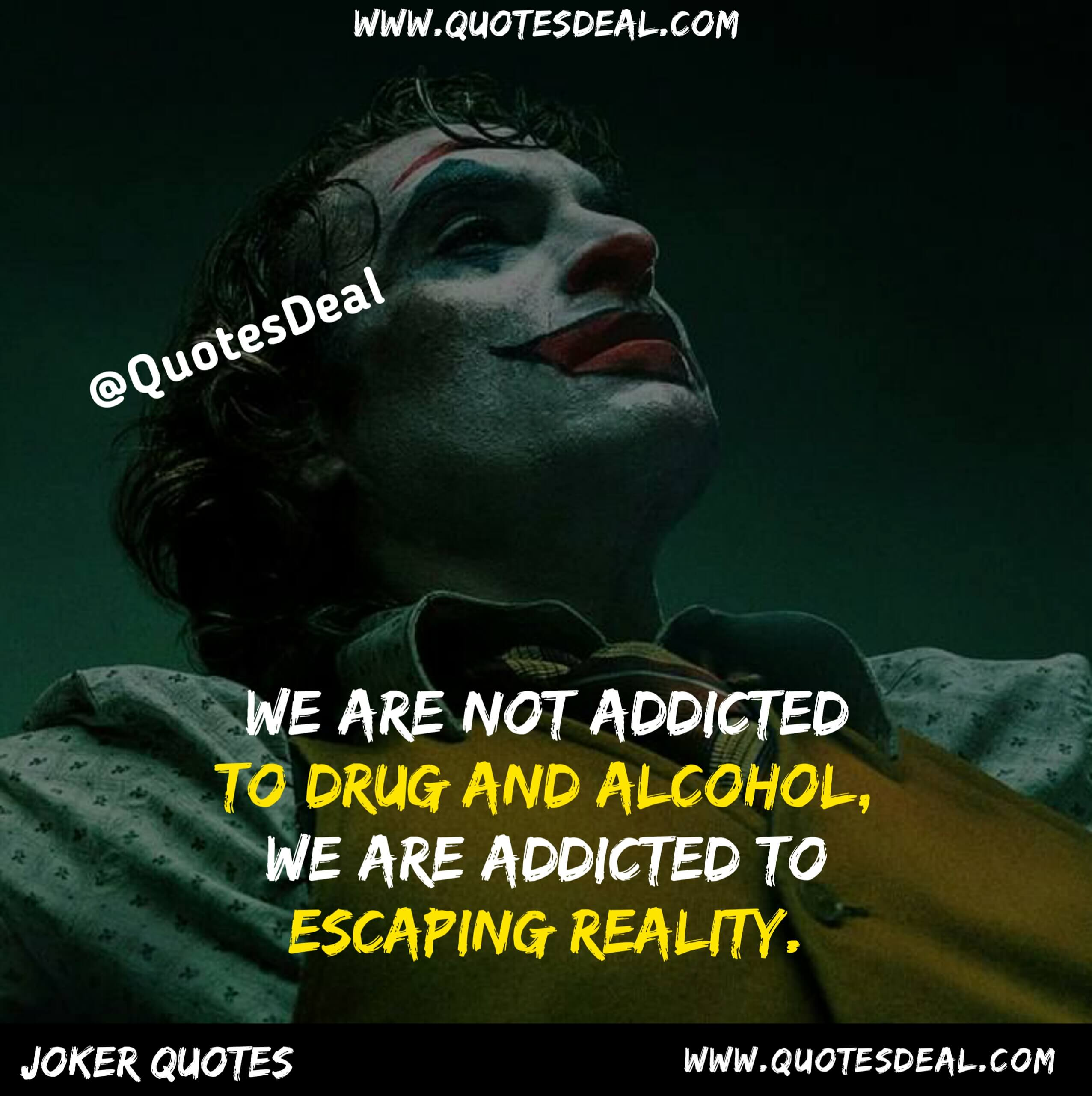 We are not addicted to drug