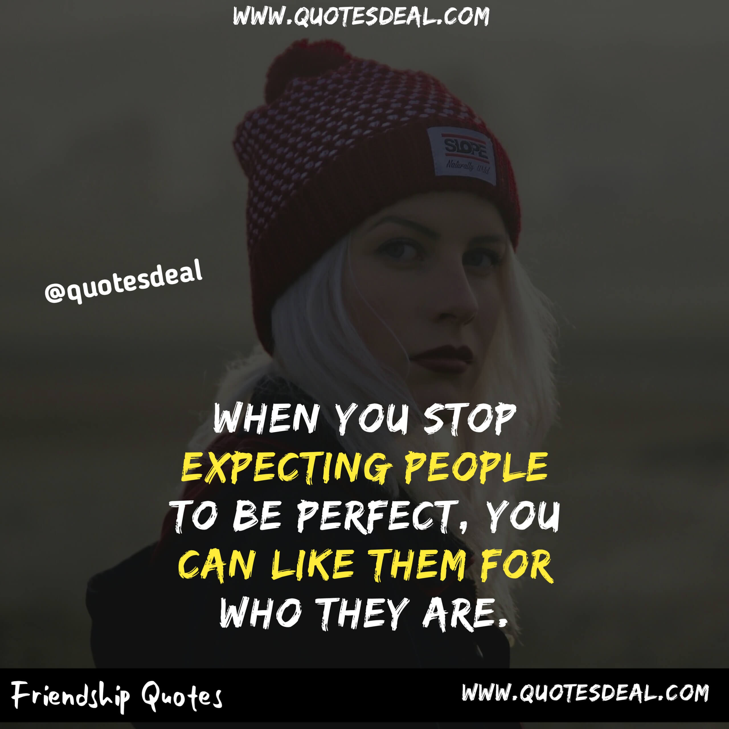 stop expecting people