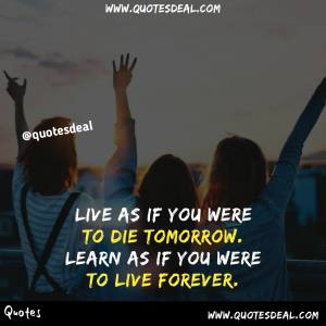 Live as if you