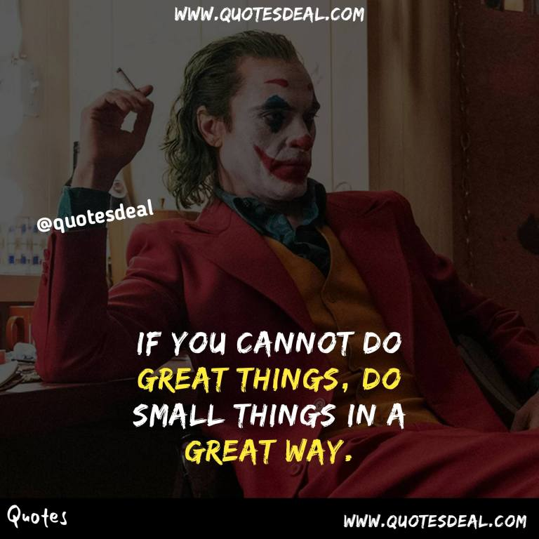 If you cannot do great things