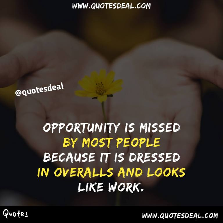 Opportunity is missed