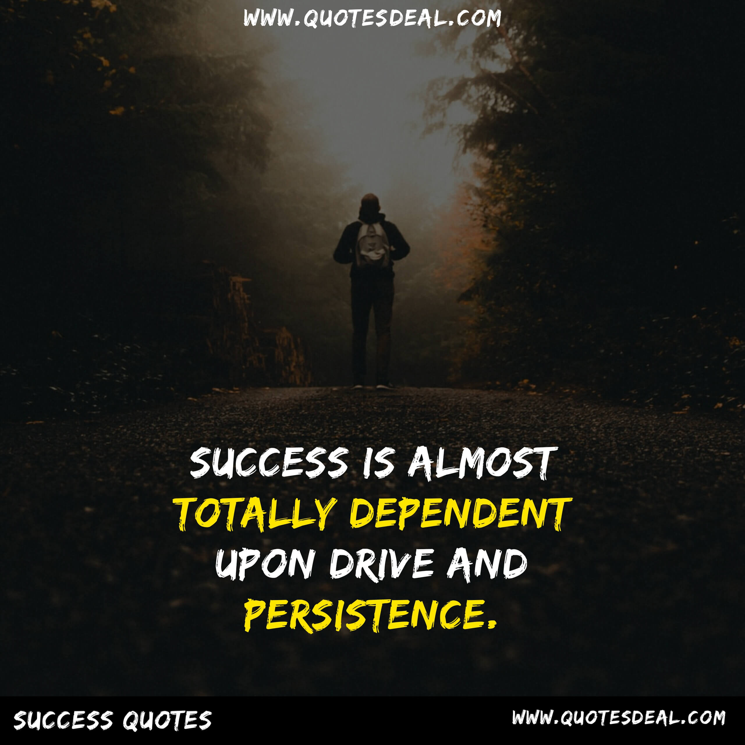 Success is almost totally