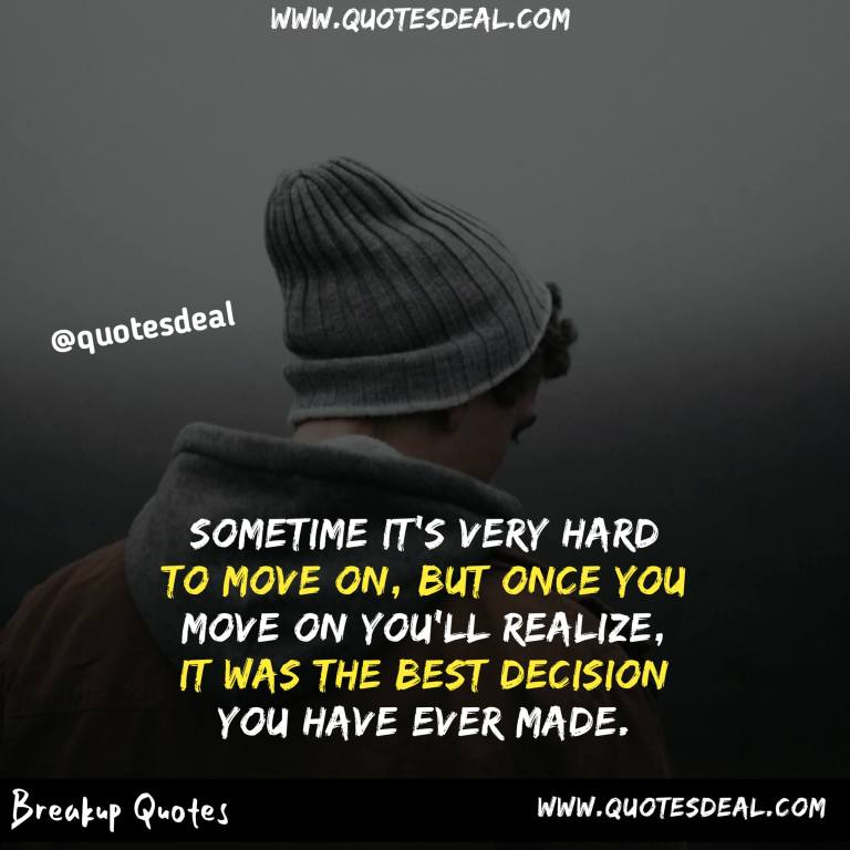 very hard to move on