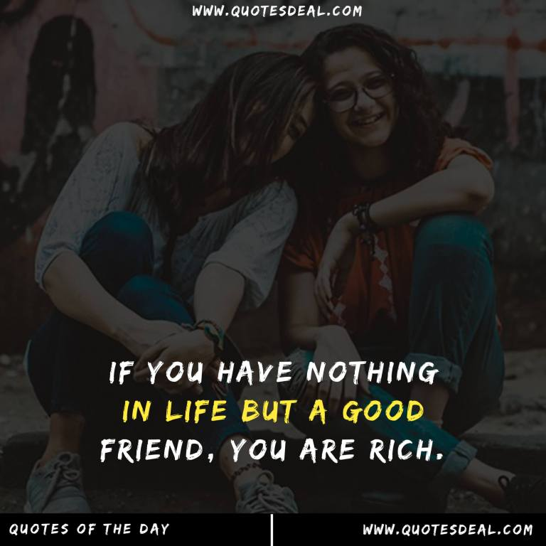 If you have nothing in life