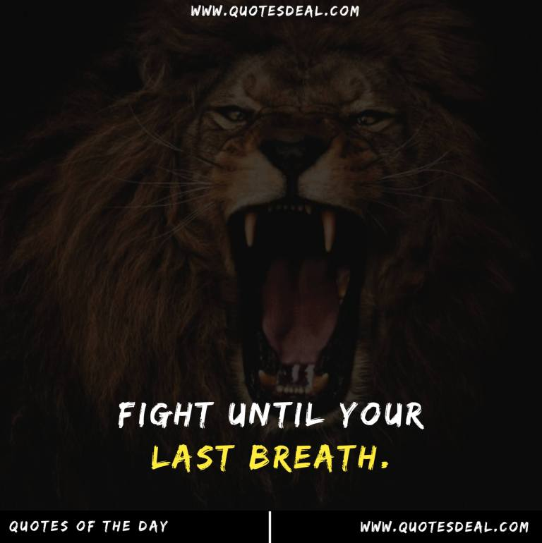 Fight until your last breath